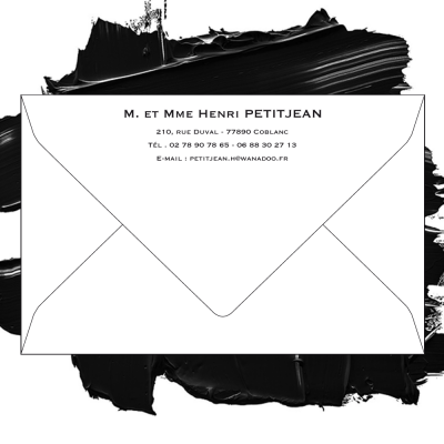 Enveloppe blanche 110 grs format 90 x140 mm