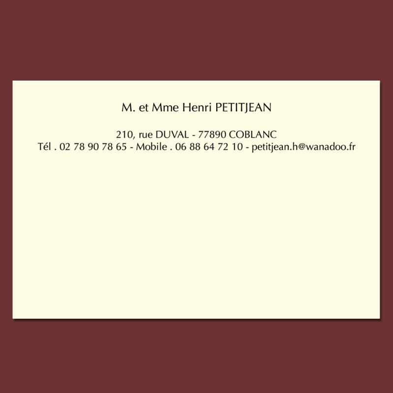 cartes de visite personnalisable en ligne format 82 x 128 mm. Black Bedroom Furniture Sets. Home Design Ideas