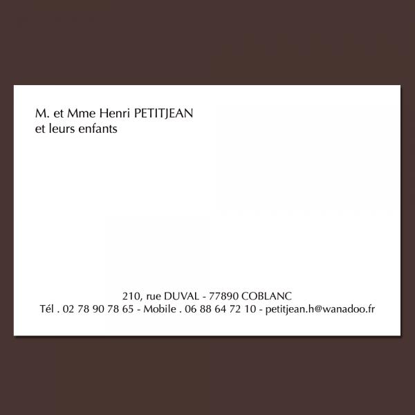 Célèbre de cartes de visite classique ES01