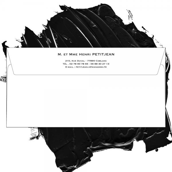 Enveloppe blanche format standard 110 x 220 personnalisable