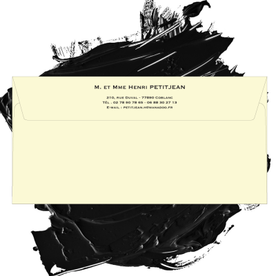 Enveloppe ivoire 120 grs format 110 x 220 mm