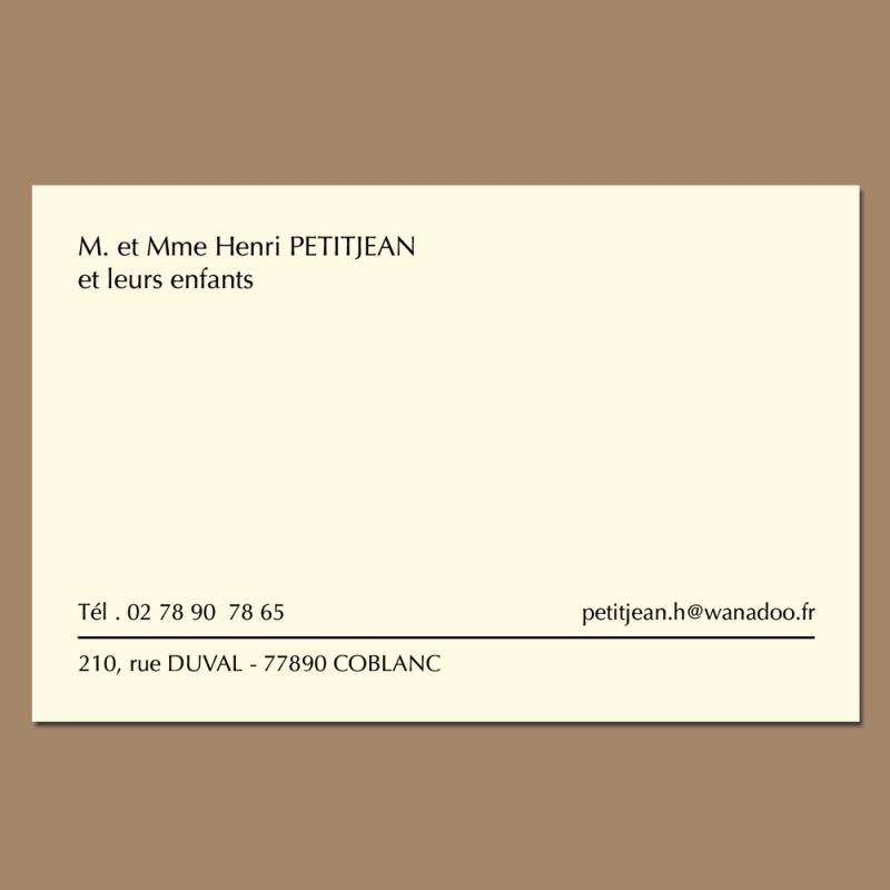 Carte De Visite Haut Gamme Papier Velin 400 Grammes