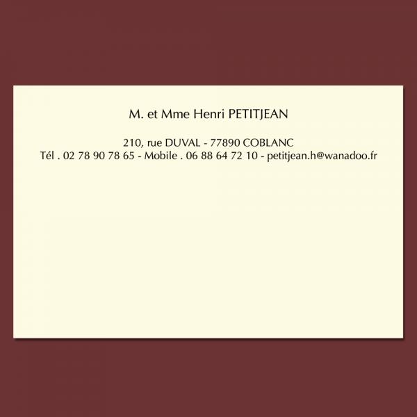 Cartes de visite personnalisable en ligne format 82 x 128 mm