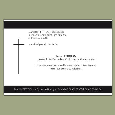 Croix noire - deux bandes noires horizontales