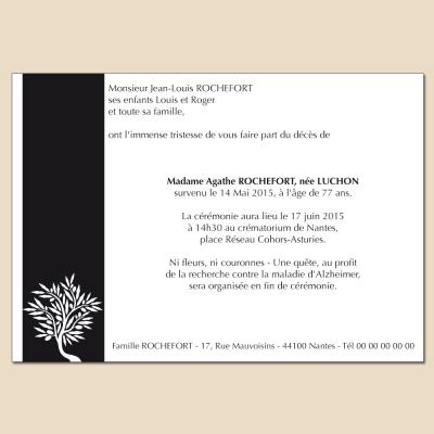 Rameau d'olivier sur bande noire verticale