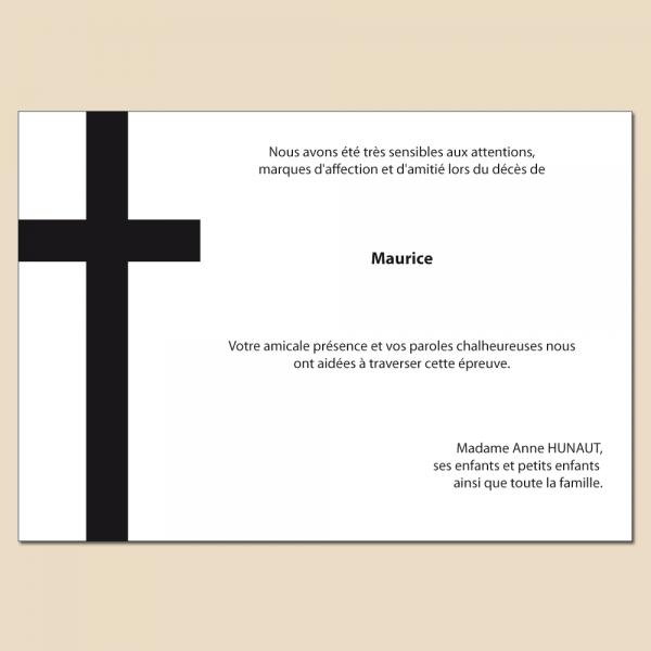Modèle 3 : grande croix noire