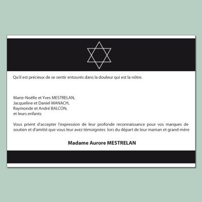 Carte de décès personnalisable selon les traditions juive