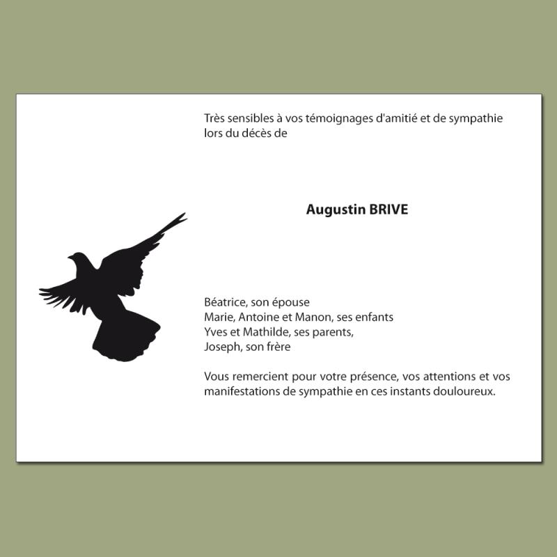 Carte De Remerciement Deces A Personnaliser Inspirees De La Nature Imprimerie Du Bout Du Monde