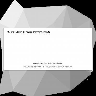 Carte de correspondance velin blanc 400 grs