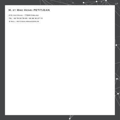 En-tête carré velin blanc 100 grs